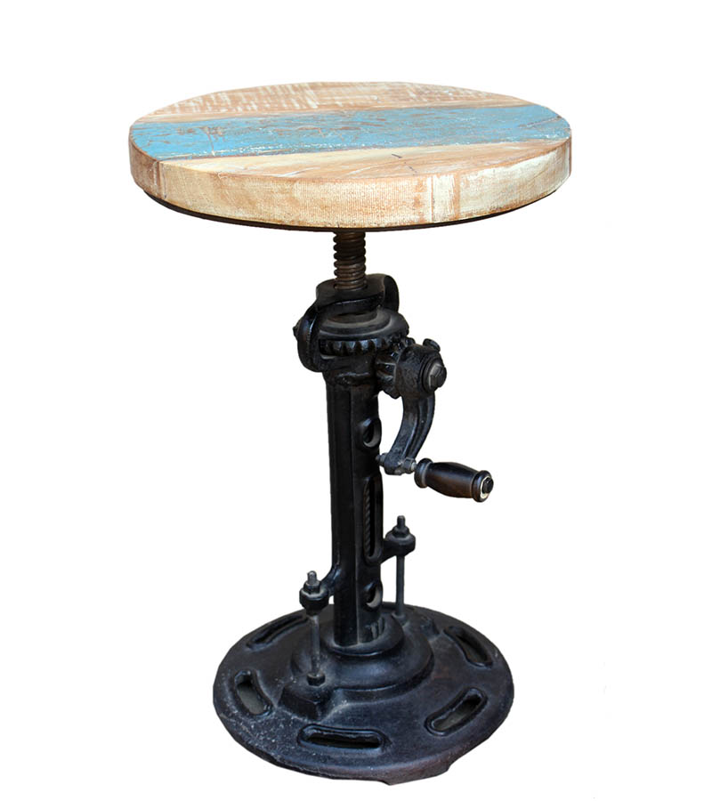 Industrial Furniture - Reclaimed wood Jack Stool