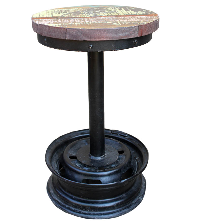 Industrial Furniture - Reclaimed Wood Industrial  Stools