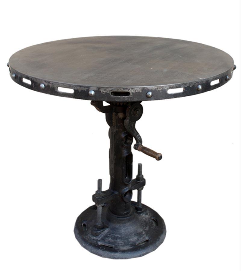 Industrial Furniture - Rustic Metal Round Table