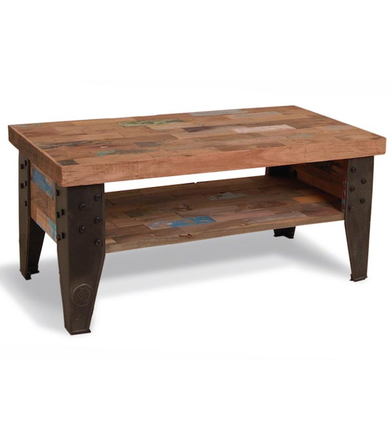 Industrial Furniture - Reclaimed Wood Industrial Coffee Table