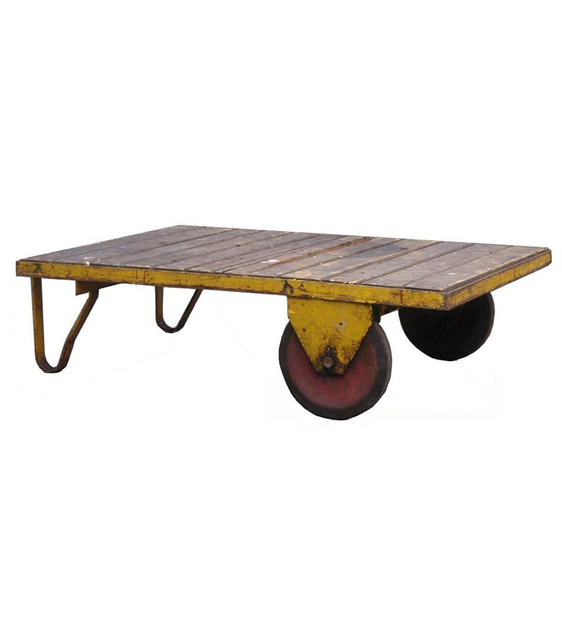 Industrial Furniture - Distress Finish Industrial Coffee Table