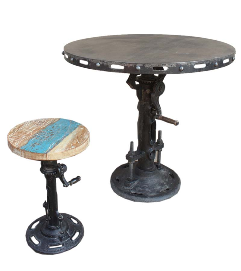 Industrial Furniture - Rustic Metal Round Table