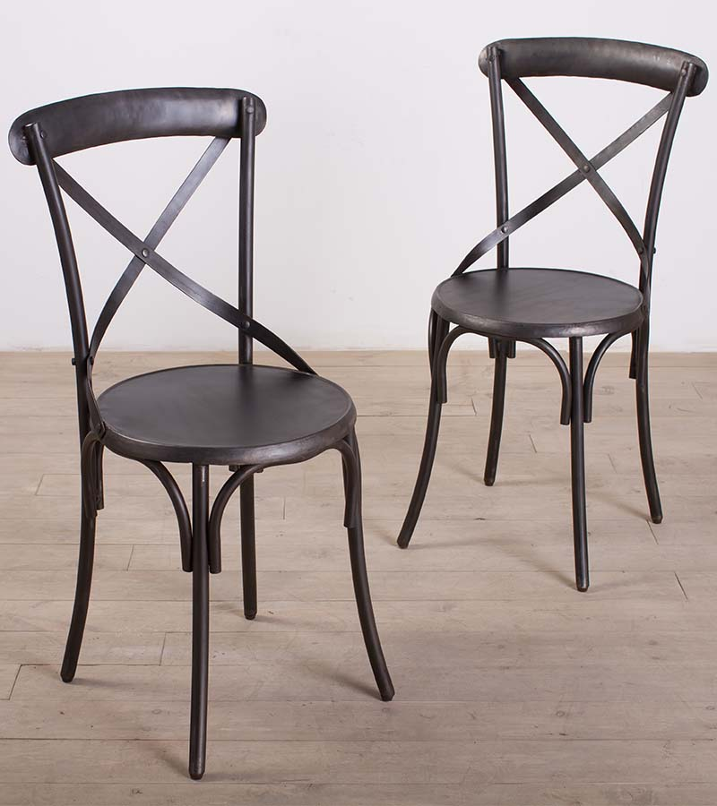 Industrial Furniture - Cross Back Chairs