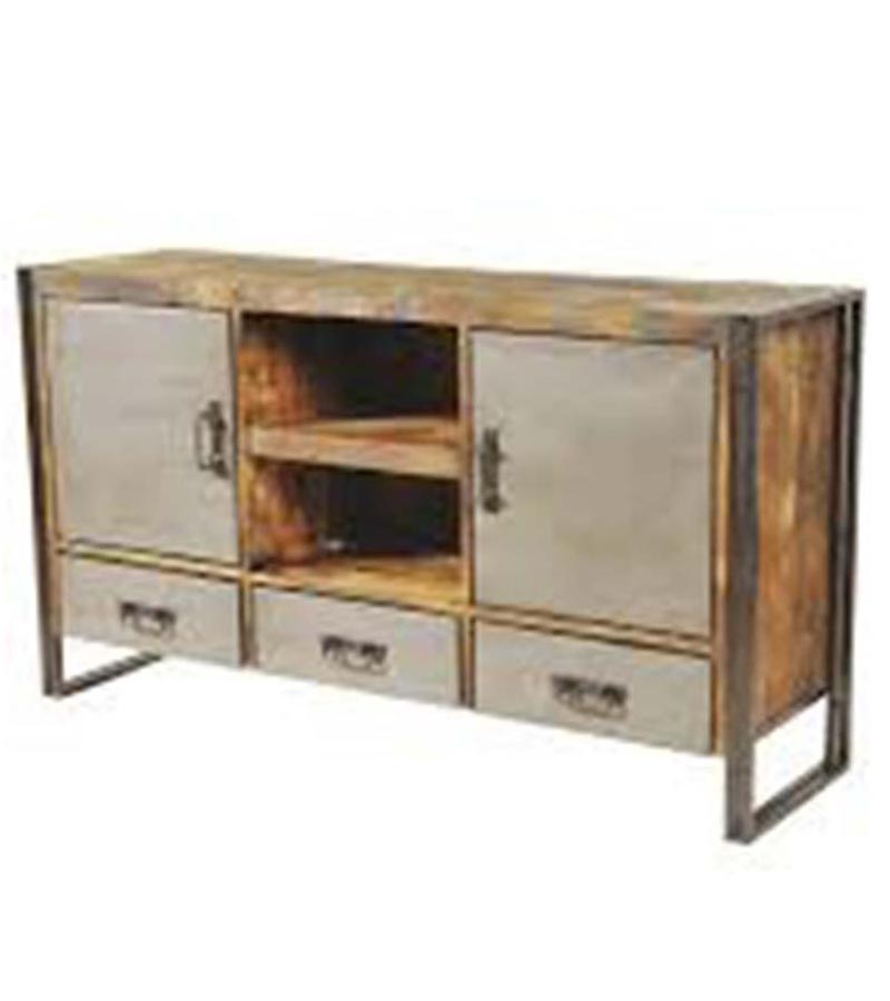 Industrial Furniture - Metal Doors Industrial Sideboard