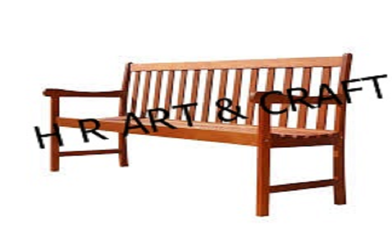 Wooden Furniture - Wooden Bench With Back