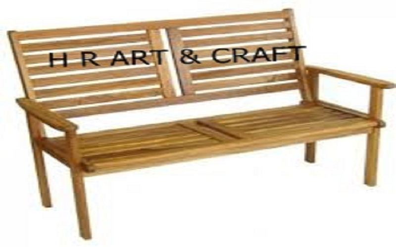 Wooden Furniture - High Back Wooden Bench