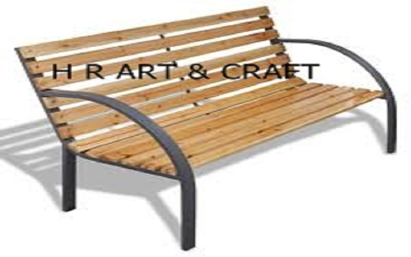 Wooden Furniture - Wooden Bench - Wooden Bench With Arm Rest