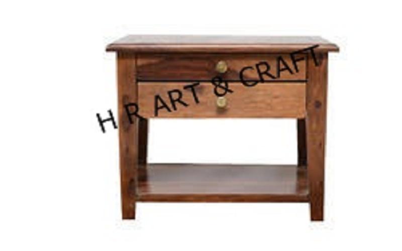 Wooden Furniture - Bedsides - Walnut Finish Bed Side Table