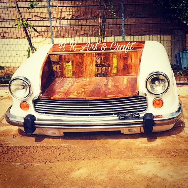 Automobile Furniture - Ambassador Car Sofa
