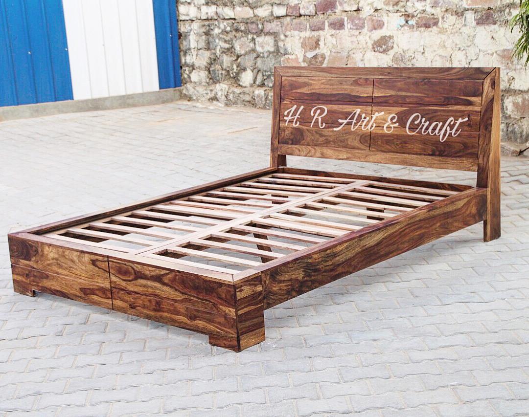 Wooden Furniture - Hotel Bed - Sheesham Wood Bed