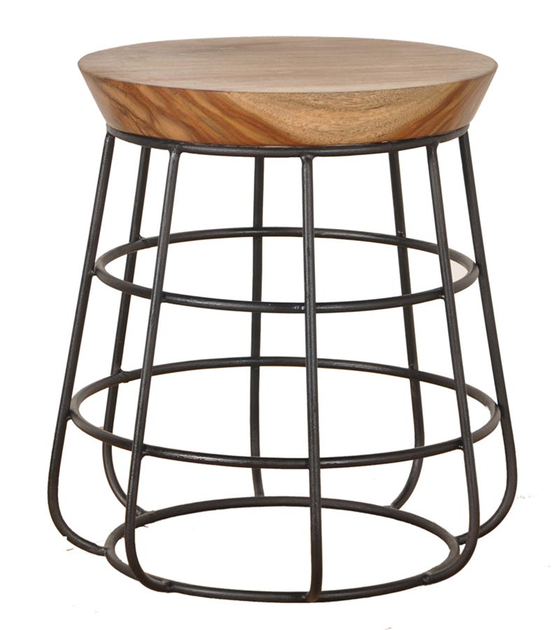 Industrial Furniture - Industrial Round Metal Stool