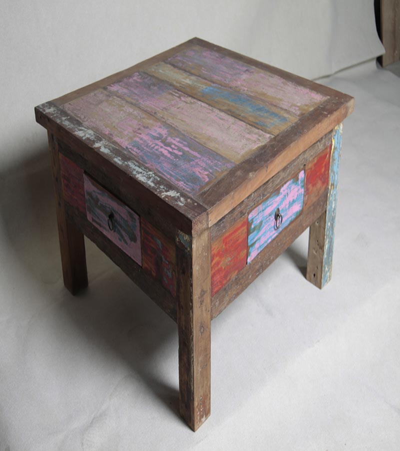 Reclaimed Wood - Reclaimed Furniture Side Table