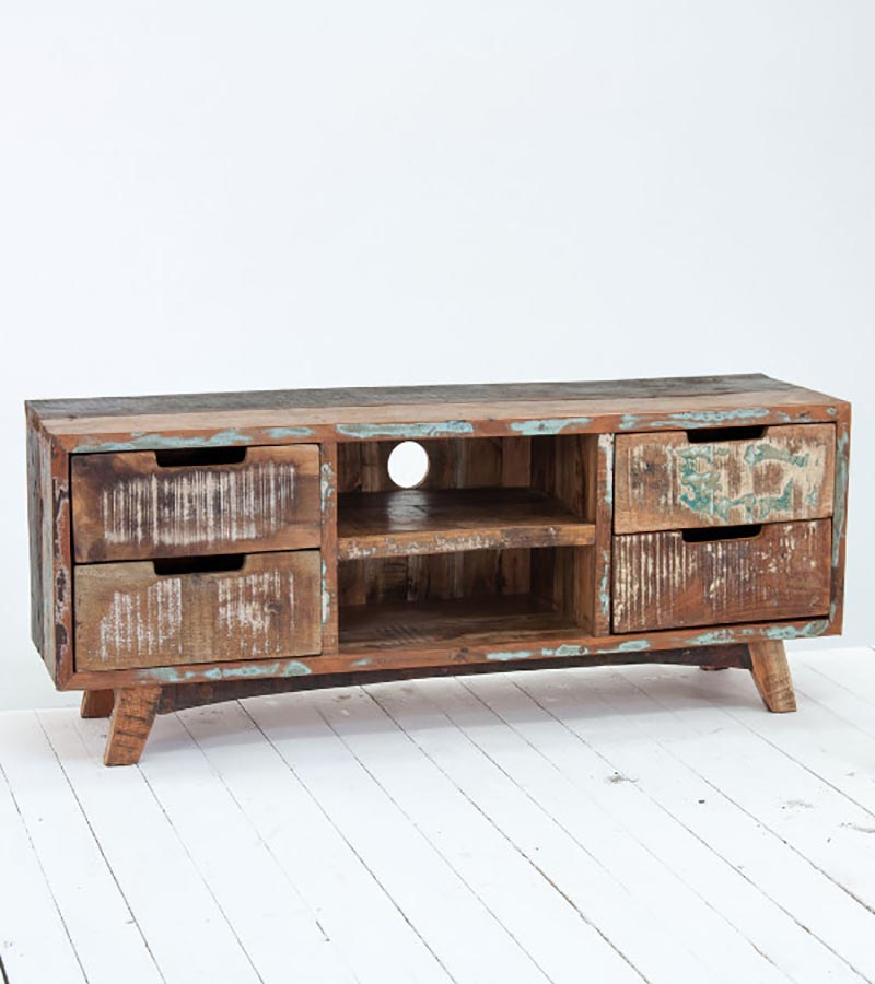 Reclaimed Wood - Reclaimed Furniture TVC Cabinet