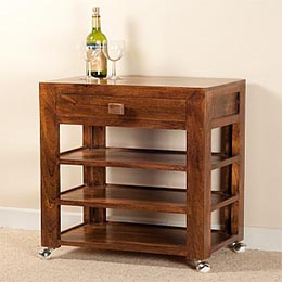 Wooden Furniture - Console Table with wheels
