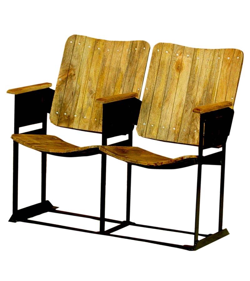 Industrial Furniture - Industrial Vintage Cinema Chair 2 Seater