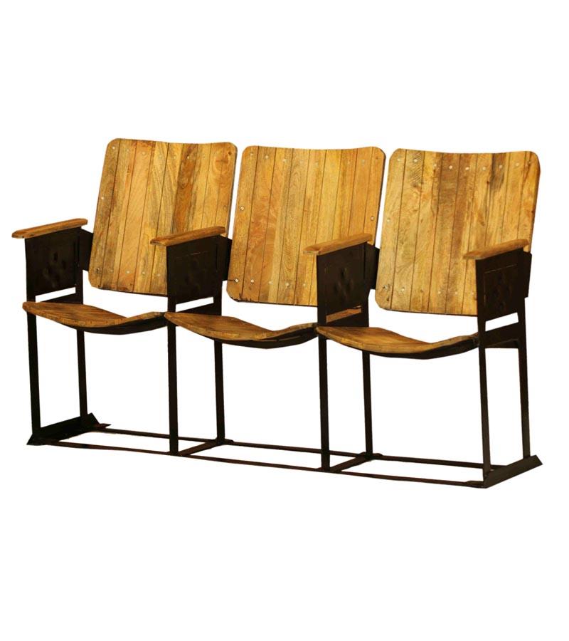 Industrial Furniture - Industrial Vintage Cinema Chair 3 Seater